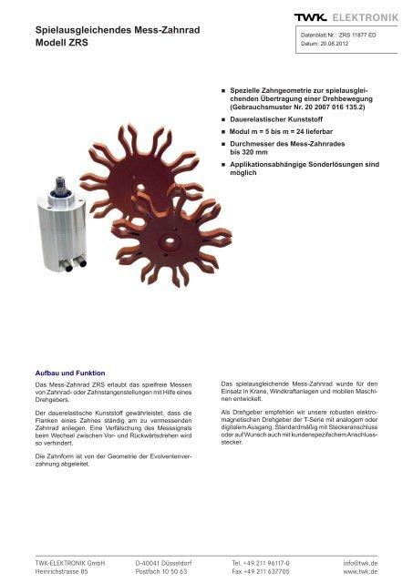 Modell ZRS - TWK-ELEKTRONIK GmbH