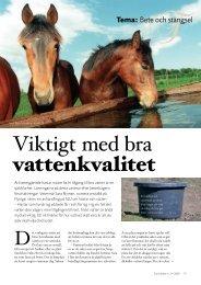 Viktigt med bra vattenkvalitet - ASVT