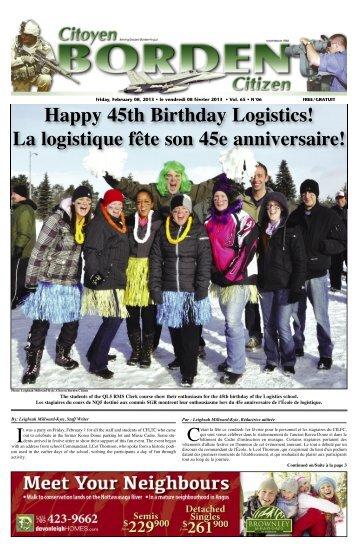 La logistique fête son 45e anniversaire! - FTP Directory Listing
