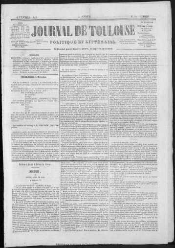 4 FÉVRIER 1845. Ce journal paraît tous les jours, excepté le mercredi.