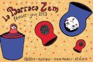 Télécharger le programme en pdf - La Barraca Zem