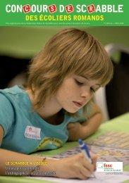 Brochure du Concours de Scrabble des écoliers romands