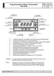 Programmierbarer Zähler / Chronometer PAS 49 MI