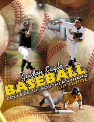 2008 Baseball Media Guide - College of Southern Idaho Athletics