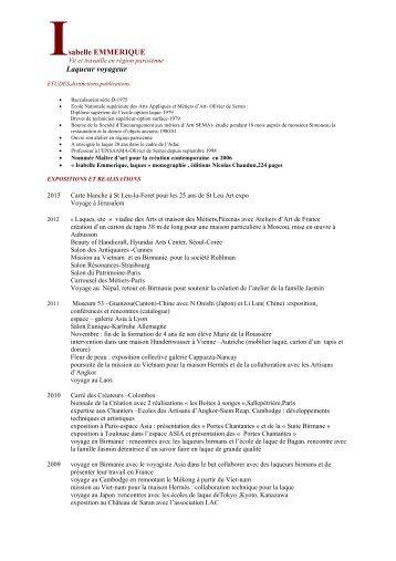 Télécharger mon CV au format pdf - Laqueur voyageur