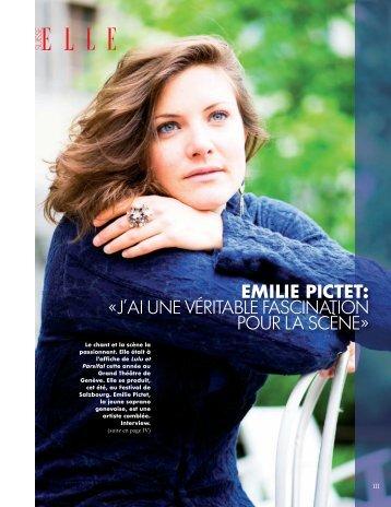 Elle New - Emilie Pictet