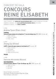 programme en pdf - Orchestre Philharmonique Royal de Liège