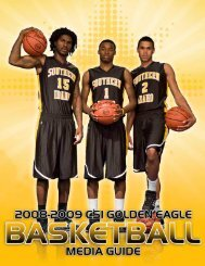 2008-2009 Men's Basketball Media Guide - College of Southern ...