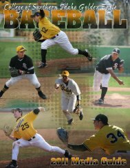 2011 Baseball Media Guide - College of Southern Idaho Athletics