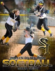 2009 SB Media Guide - College of Southern Idaho Athletics
