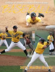 2012 Baseball Media Guide - College of Southern Idaho Athletics