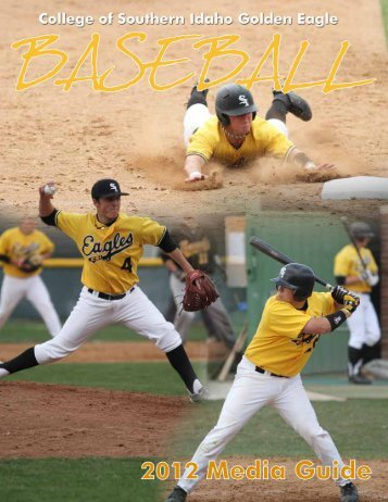 2012 Baseball Media Guide - College of Southern Idaho Athletics
