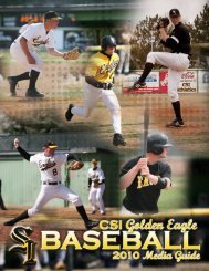 2010 Baseball Media Guide - College of Southern Idaho Athletics