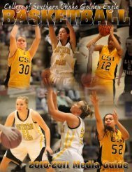 2010-11 WBB Media Guide - College of Southern Idaho Athletics