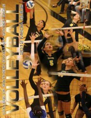 2012 VB Media Guide - College of Southern Idaho Athletics