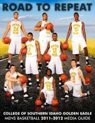 2011-2012 Men's Basketball Media Guide - College of Southern ...