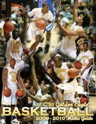 2009-2010 Men's Basketball Media Guide - College of Southern ...
