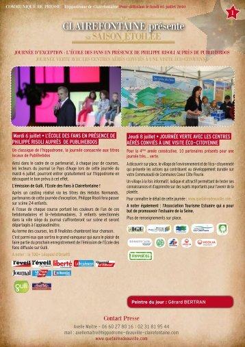 ClaiReFontaine présente - Les hippodromes de Deauville