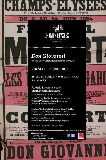 Don Giovanni - Théâtre des Champs Elysées