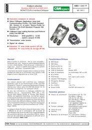 Modèles KBN 58-S et KBN 58-K - TWK-ELEKTRONIK GmbH