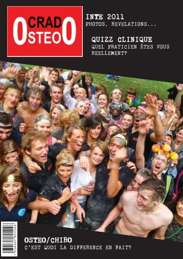 INTE 2011 QUIZZ CLINIQUE OSTEO/CHIRO