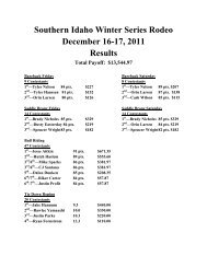 Southern Idaho Winter Rodeo Series - College of Southern Idaho ...