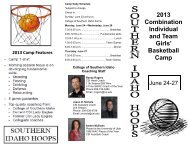 Team Camp - College of Southern Idaho Athletics