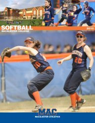 SOFTBALL - Macalester Athletics - Macalester College