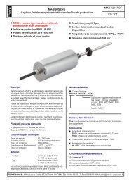 Capteur linéaire magnétostrictif dans boîtier de protection
