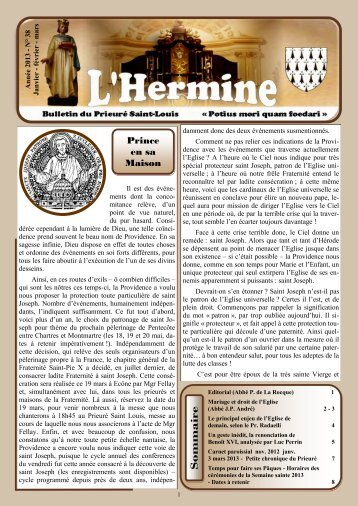 L'Hermine n° 38 - Prince en sa Maison - La Porte Latine
