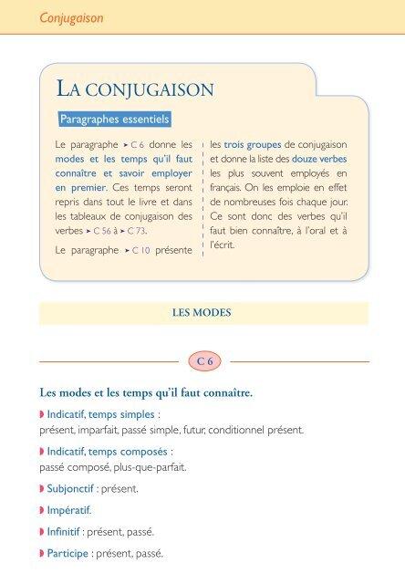 Les Determinants Du La Conjugaison