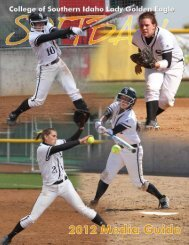 2012 SB Media Guide - College of Southern Idaho Athletics