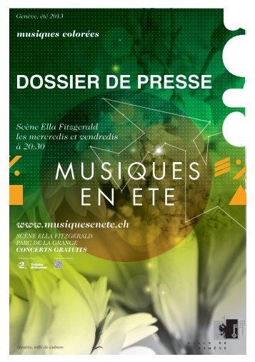 musiques colorées - Ville de Genève