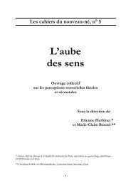 L'aube des sens - Les Cahiers du Nouveau-Né - accueil