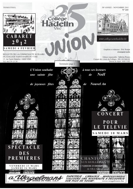 P R E M I E R E S - Collège Saint-Hadelin