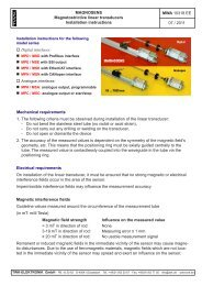 Magnetostrictive linear transducers - TWK-ELEKTRONIK GmbH