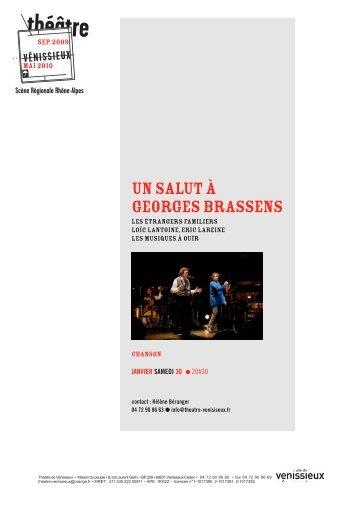 DP un salut à Brassens_Mise en page 1 - Théâtre de Vénissieux
