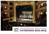 Télécharger le dossier AMOC Entreprises 2012 ... - Opéra Comique