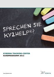 kyberna Training-Center: Kursprogramm 2012
