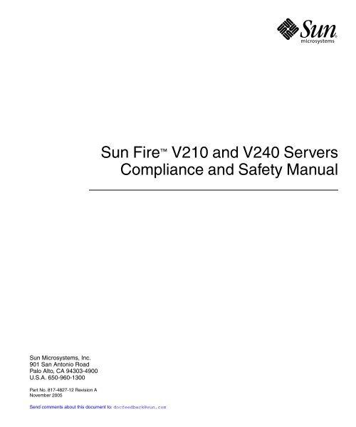 Sunfire v210 manual.
