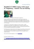 Pressespiegel August komplett - SC DHfK Handball - Page 2