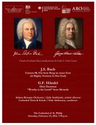 Concert Program - Atlanta Baroque Orchestra