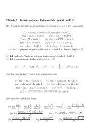 """Příklady 2 – Taylorův polynom, Taylorova řada, symbol """"malé o - Atrey"""