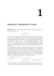 Soustavy lineárních rovnic - Atrey