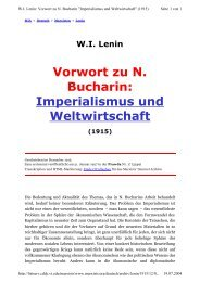 Vorwort zu N. Bucharin: Imperialismus und Weltwirtschaft - Attac Berlin
