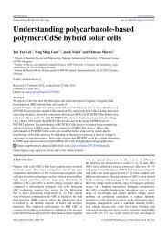 Understanding polycarbazole-based polymer:CdSe hybrid solar cells