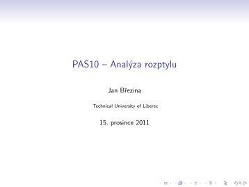 PAS10 – Analýza rozptylu - Atrey