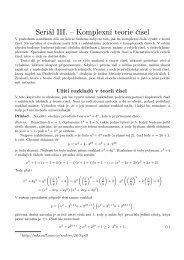 Seriál III. – Komplexní teorie čísel - Atrey