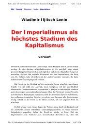 Der Imperialismus als höchstes Stadium des ... - Attac Berlin