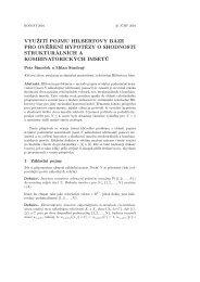 využití pojmu hilbertovy báze pro ověření hypotézy o ... - Atrey